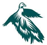 Eagle stylized symbol Royalty Free Stock Images