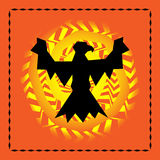 Eagle and Sun. Southwestern design with eagle and sun vector illustration