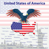 Eagle is a symbol of America Stock Images
