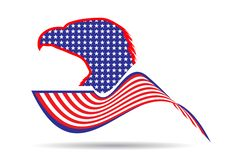Eagle symbol of America and freedom royalty free illustration
