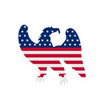 Eagle Symbol National stolthet Amerika för självständighetsdagen 4th stock illustrationer