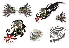 Eagle symbol and ornate eye Stock Photos
