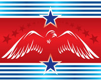 Eagle symbol_patriotic banner Royalty Free Stock Photo