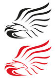 Eagle-Symbole oder -maskottchen Stockfotos