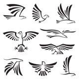 Eagle symboler Fotografering för Bildbyråer