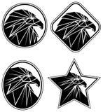 Eagle symboler Arkivfoton