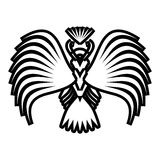 Eagle symbols and tattoo, vector illustration. Stock Photos