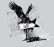 Eagle t-shirt design Stock Images
