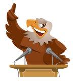 Eagle talar från tribun Royaltyfri Fotografi