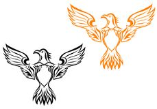 Eagle tattoo Stock Images