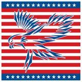 Eagle tattoo_red white blue Stock Photo