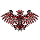Eagle Tattoo Style Haida Art Royaltyfri Foto