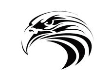 Eagle tattoo. Very big size tribal eagle tattoo illustration royalty free stock photography