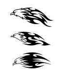 Eagle tattoos with flames royalty free illustration