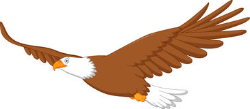 Eagle tecknad filmflyg Royaltyfri Foto