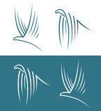 Eagle-tekens Royalty-vrije Stock Foto's