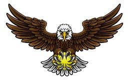 Eagle Tennis Sports Mascot Imágenes de archivo libres de regalías