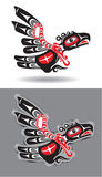 Eagle or Thunderbird in Native American Style Stock Image