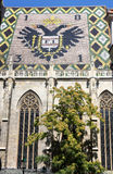 Eagle Tiles Roof of Stephansdom in Vienna, Austria Royalty Free Stock Photos