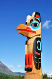 Eagle Totem Pole Against a Blue Sky Royalty Free Stock Images