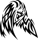 Eagle in tribal style - vector illustration Royalty Free Stock Photos