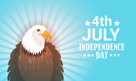 Eagle United States Independence Day Symbol Holiday 4 July Greeting Card Stock Photo