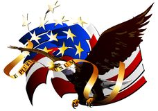 Eagle of the United States. (Vector). Vector image of an eagle, the symbol of the United States Royalty Free Stock Photos