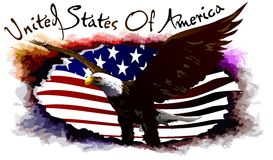 Eagle of the United States. (Vector) Stock Photo