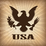 Eagle. Usa over vintage background vector illustration Royalty Free Stock Photos