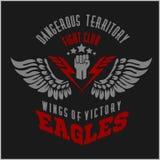 Eagle uskrzydla militarną etykietkę, odznaki i projekt -, Obrazy Royalty Free