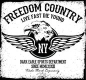 Eagle utslagsplatsdiagram Arkivbild