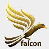 Eagle of valk het vliegen royalty-vrije illustratie