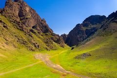 Eagle Valley Yolyn Am Mountains Mongolia H Royalty Free Stock Photography