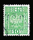 Eagle vapensköld av Polen serie, circa 1932 Fotografering för Bildbyråer