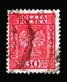 Eagle vapensköld av Polen serie, circa 1932 Arkivfoton
