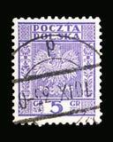 Eagle vapensköld av Polen serie, circa 1933 Arkivbilder