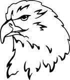 Eagle vector. Stylized eagle`s head vector in black and white Stock Image