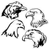 Eagle vector doodle  set Royalty Free Stock Photography