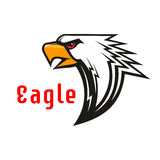 Eagle vector emblem. Hawk graphic symbol. American Eagle vector emblem. Hawk graphic label for team mascot shield, icon, badge, label and tattoo. Falcon symbol Royalty Free Stock Photo