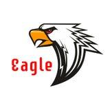 Eagle vektoremblem Grafiskt symbol för hök Royaltyfri Foto