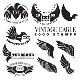 Eagle Vintage Logo Stamps Royalty-vrije Stock Foto's