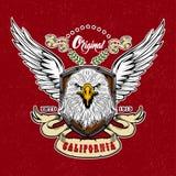 Eagle Vintage Style Logo Stockfotografie