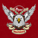 Eagle Vintage Style Logo Stock Photography