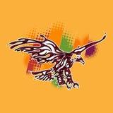 Eagle-vlieg in de piraatstijl stock illustratie