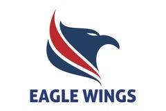 Eagle voa o logotipo Fotografia de Stock Royalty Free