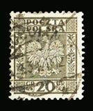 Eagle, Wapenschild van Polen serie, circa 1932 Stock Foto's