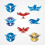 Eagle - Wings with badge Logo Royalty Free Stock Photos
