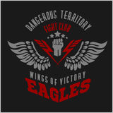 Eagle wings - military label, badges and design Royalty Free Stock Images