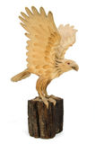 Eagle Wooden statue. Isolated on white background Royalty Free Stock Image