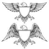 Eagle z osłoną odizolowywającą na białym tle Projekta element f ilustracji